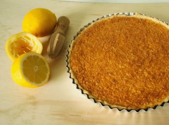 torta de limão e coco