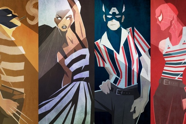 Peter McNierney. Illustrations. marvel-superheroes-in-fashion-illustration-wearing-dolce-and-gabbana