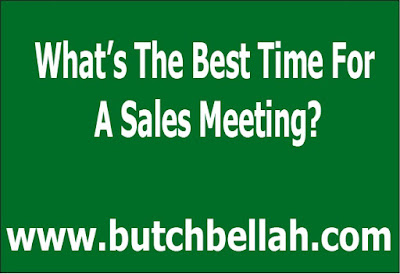 What's The Best Time For A Sales Meeting?