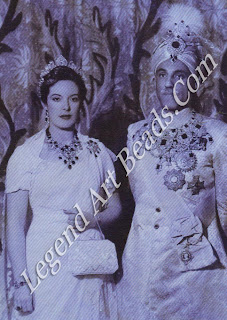 In the 1920s, the Nawab of Bahawalpur, Ameer Sadiq Muhammad Khan V Abbasi, won a dubious fame for his extravagant love of jewellery and of women. Here, he is seen with his English wife. Linda Sayce.