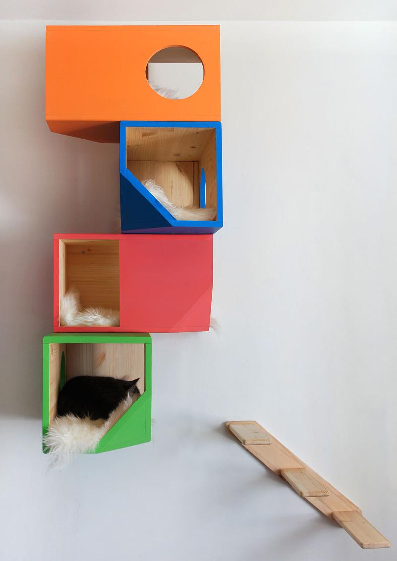 Catissa una casa modular para gatos maria victrix - Casas para gatos de madera ...