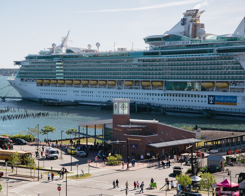 Portland, Maine USA September 2015 photo by Corey Templeton. The MS Liberty of the Seas, one of the larger ships to visit us, docked at Ocean Gateway last weekend.