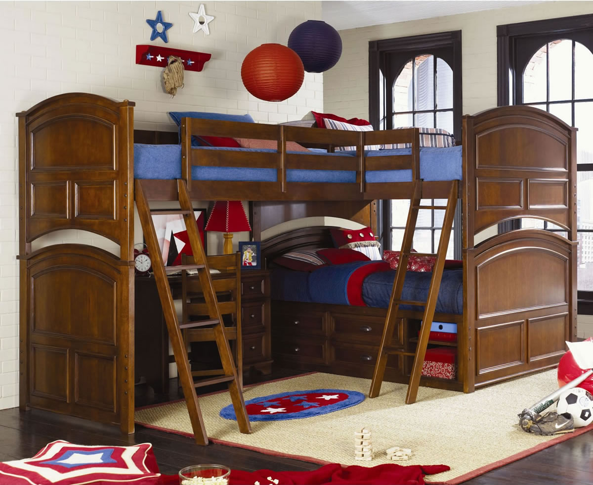 Deer Run Triple Bunk Bed 1200 x 980