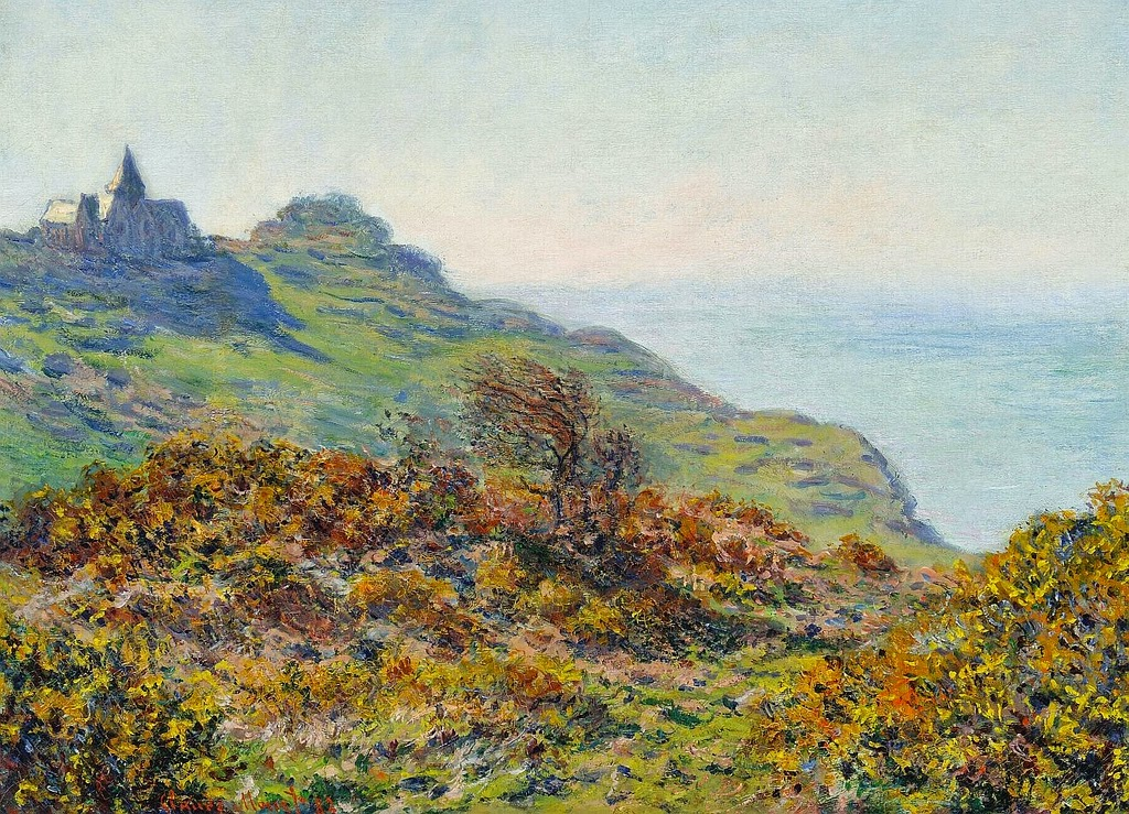 L'église de Varengeville et la gorge des Moutiers (Claude Monet, 1882)