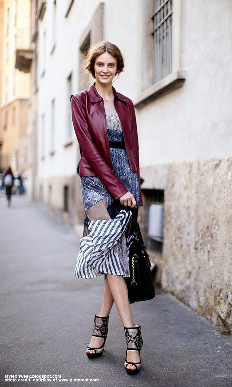 Augustė Abeliūnaitė Street Style Inspiration - Try a Dyed Leather Jacket