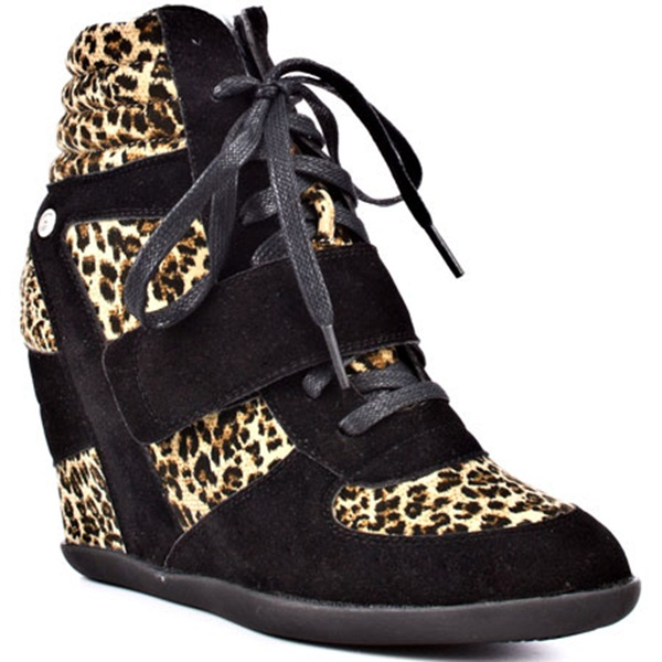 leopard wedge sneaker, how to wear wedge sneaker, isabel marant lookalike, ashe lookalike