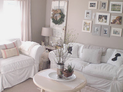 Shabby Chic White Christmas