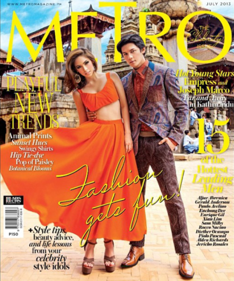 Empress and Joseph Marco Cover Metro Magazine July 2013