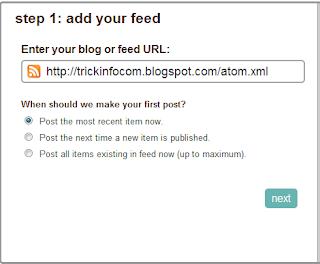 Cara Posting Otomatis Blog Ke Twitter Dan Facebook2