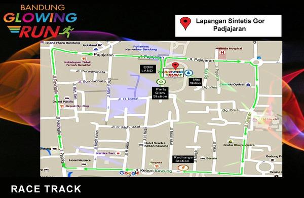 Bandung Glowing Run 2015, lomba lari malam hari bandung pajajaran