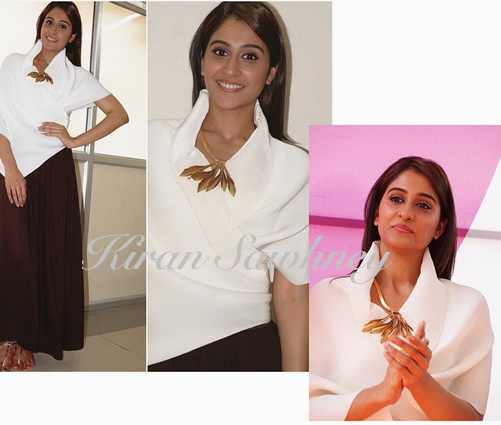 Regina Cassandra in Origami top and Payal Khandwala