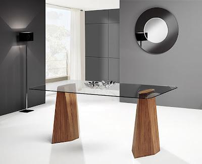 Mesas de comedor por la decoradora experta mesa de for Mesa comedor cristal y madera