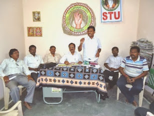 MEETING TO RELEASE STU WALLPOSTER MANABADI-MANABADYATA Dt:8-6-13 STU NANDYAL DVSN OFFICE