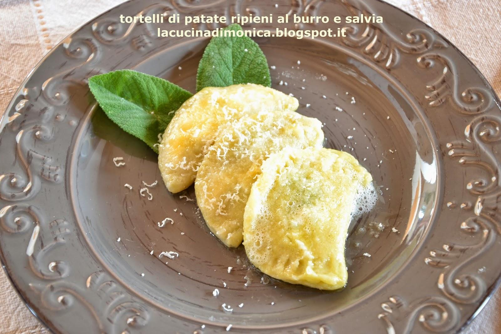 tortelli di patate ripieni al burro e salvia