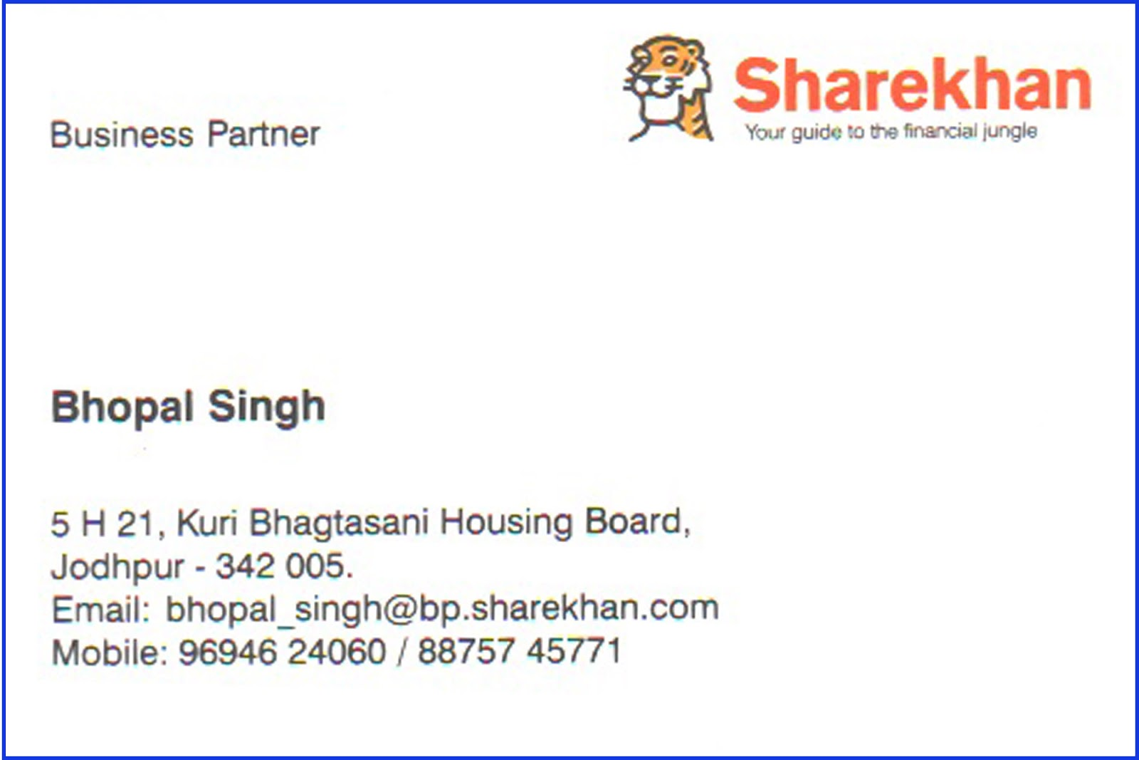 Jai naganarai investment this is my visiting card for all clients join sharekhan and feel different magicingreecefo Gallery
