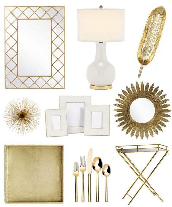 Gold home d cor bright and beautiful chicago fashion for Gold home decorations