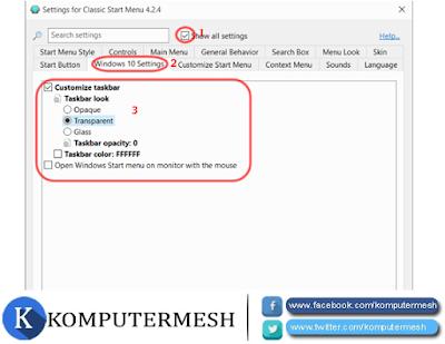 Cara Membuat Taskbar Transparan Windows 10