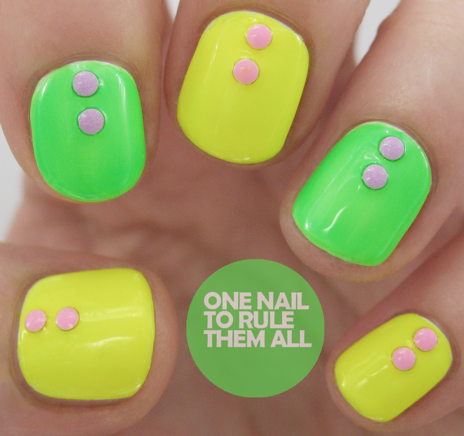 One Nail To Rule Them All: Models Own Ice Neon Nail Art