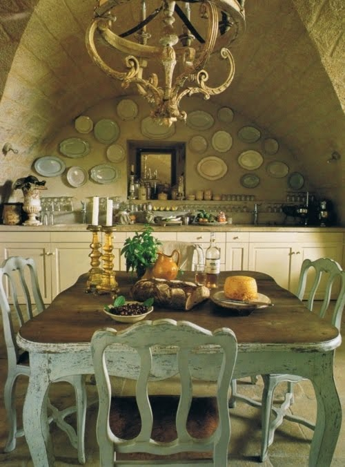 F yeah awesome houses french country farmhouse for Country kitchen dining room ideas