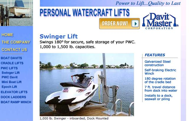 Davit Master Mini Boat Lift