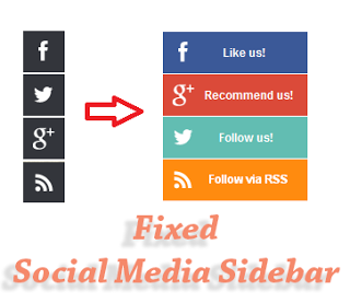 Add Fixed Social Media Sidebar for Blogger