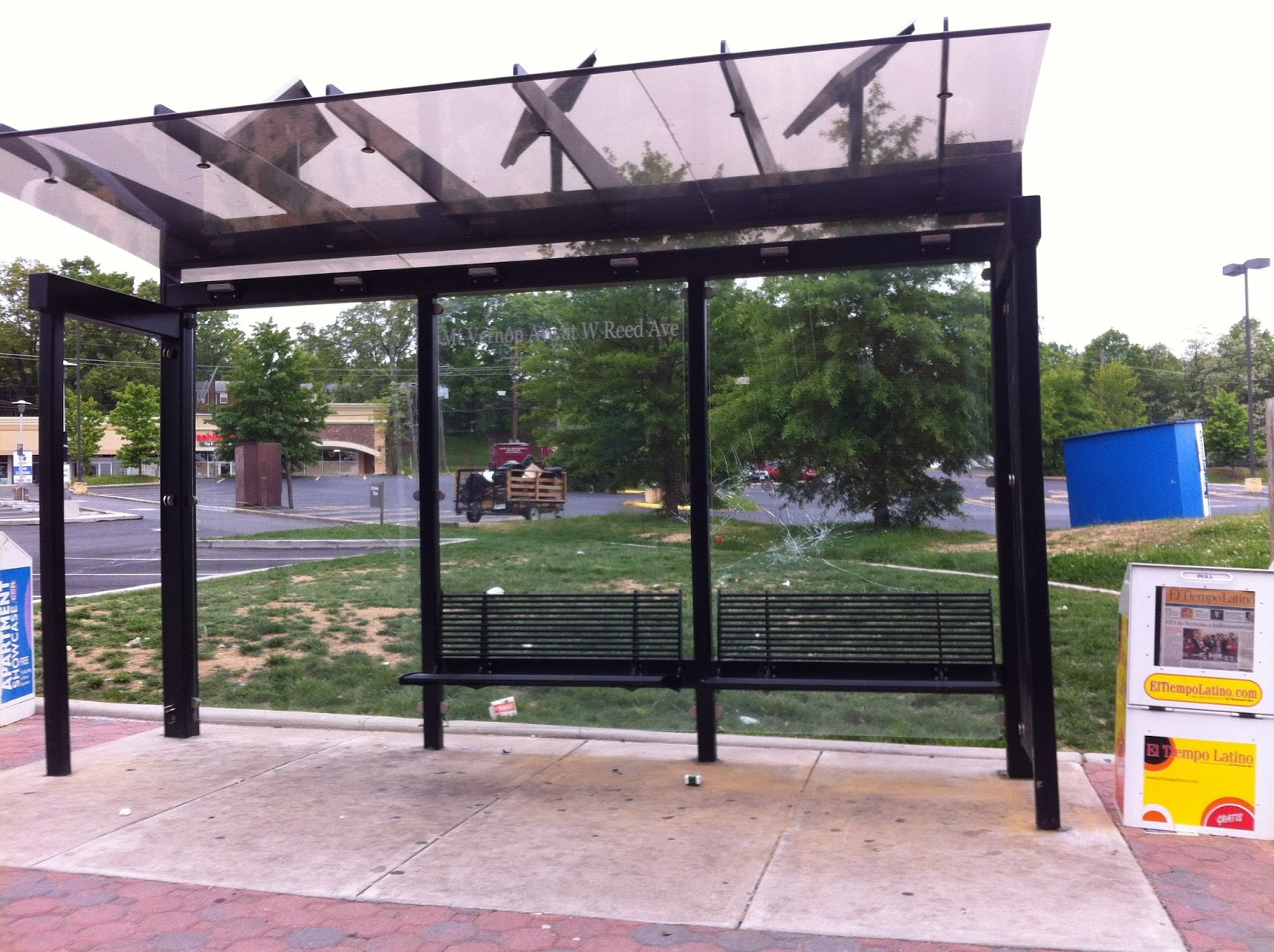 the arlandrian repeated vandalism of bus shelter prompts redesign