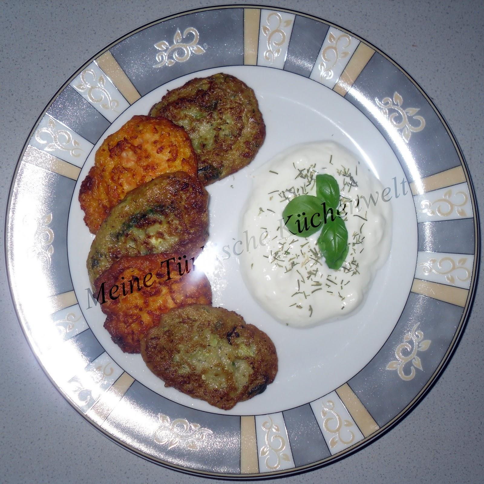 Meine Türkische Küchenwelt: Vegetarische Frikadellen (Mücver)