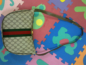 Gucci Beige Signature Shoulder Bag(SOLD)