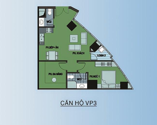 căn hộ VP3 - 66m2
