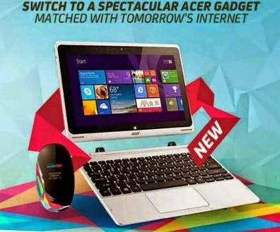 Acer Aspire Switch FREE at Smart Bro Gadget Plus Plan 1299