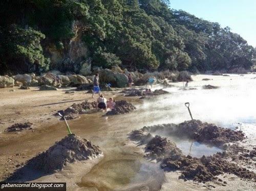 Aneh Pantai Pelik Ini Mempunyai Mata Air Panas