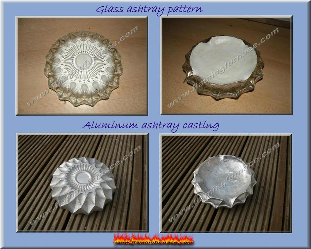 sand casting aluminum ashtray bowl metal casting projects