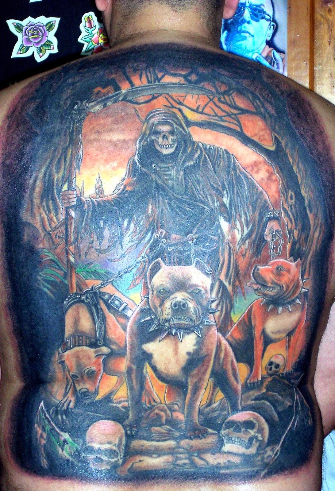 Imagenes santa muerte tatuajes galerie tatouage - Santa muerte tatouage signification ...