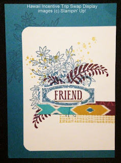Stampin' Up! Aweseomely Artistic Swap from Hawaii Incentive Trip Display Board #stampinup
