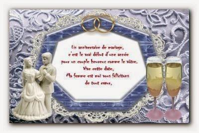 Texte pour carte anniversaire mariage gratuite