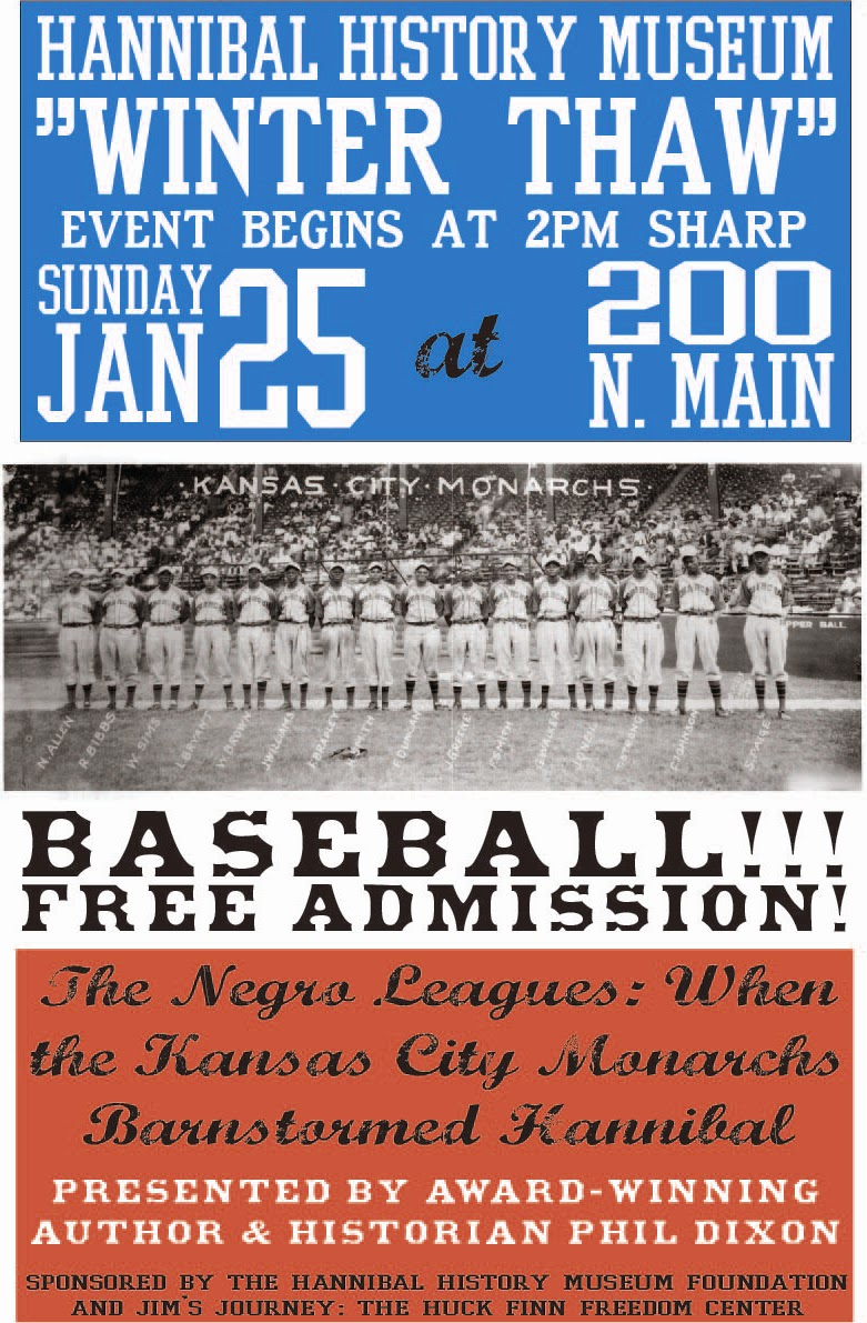 Discussion about the impact of the Negro Leagues on the rest of baseball; when the Kansas City Monarchs barnstormed through Hannibal, MIssouri