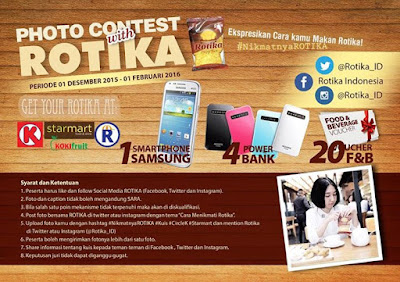 Kontes Foto with ROTIKA Berhadiah Smartphone Samsung, Powerbank dan Voucher Belanja
