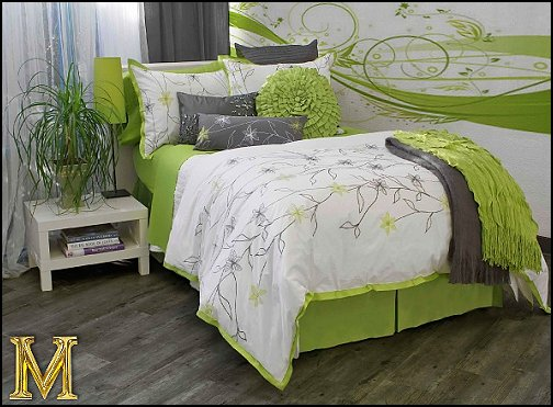 American made bedroom furniture bedroom furniture high for Lime green bedroom designs