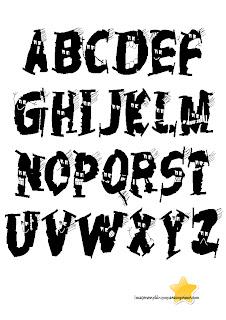 letras con vampiros de halloween