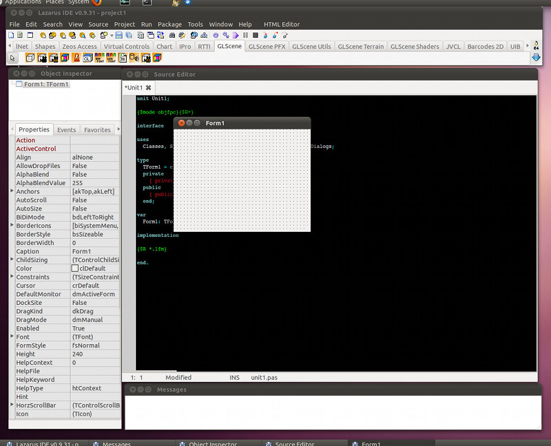 Lazarus: IDE para Pascal parecido a Delphi
