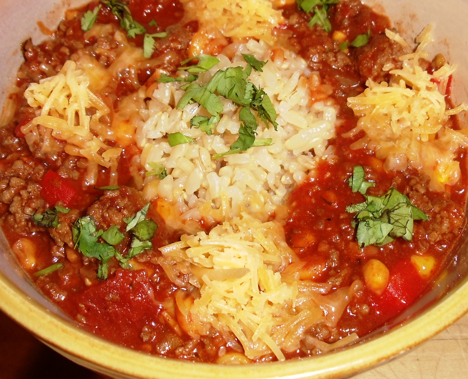 Sandra's Alaska Recipes: SANDRA'S FEISTY FIESTA MEXICAN RICE BOWL