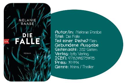 http://www.amazon.de/Die-Falle-Roman-Melanie-Raabe/dp/3442754917/ref=sr_1_1?ie=UTF8&qid=1435138726&sr=8-1&keywords=Die+Falle