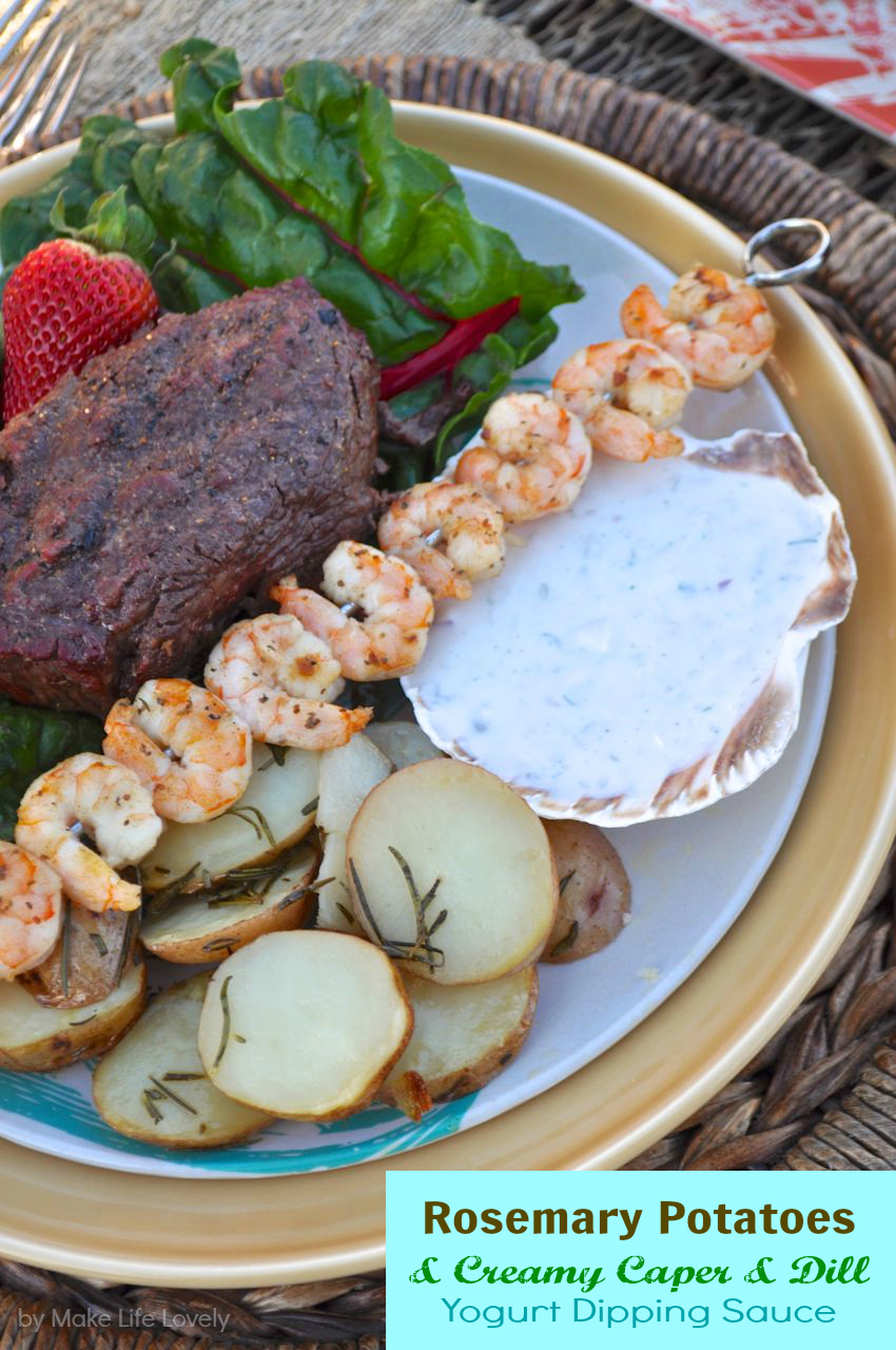 Wonderful Surf And Turf Dinner Party Ideas Part - 5: Surf And Turf Dinner Party + Rosemary Potato U0026 Yogurt Dipping Sauce Recipe