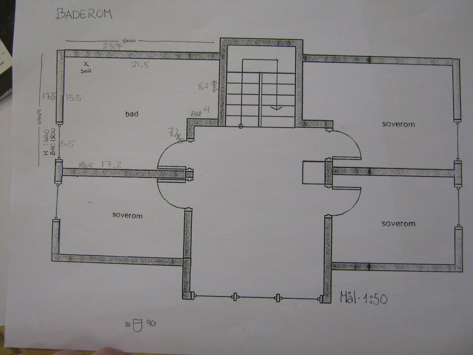 Thora Storm VGS. Design og h?ndverk.: 3DH Lager forslag til innredning av bad.