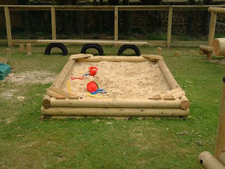 sandpit in a playground