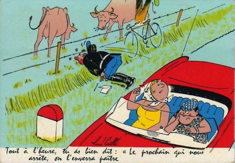 BIENVENUE CHEZ LE RAT MUTANT: 7 CARTES ANCIENNES HUMORISTIQUES