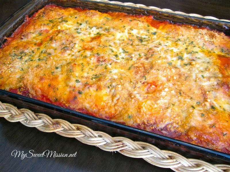 Cheese Ravioli Lasagna by MySweetMission.net