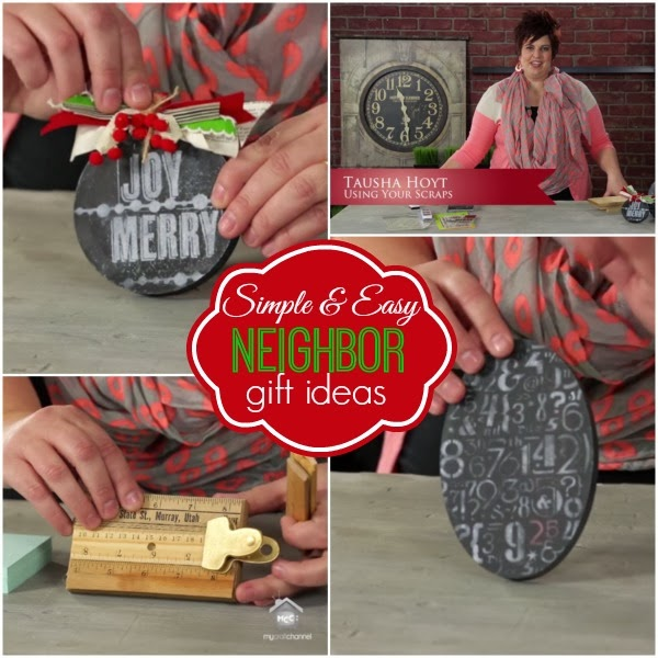 Gift Ideas Real Log Style: My Craft Channel: Nov. 15th: Easy Neighbor/Teacher Gifts
