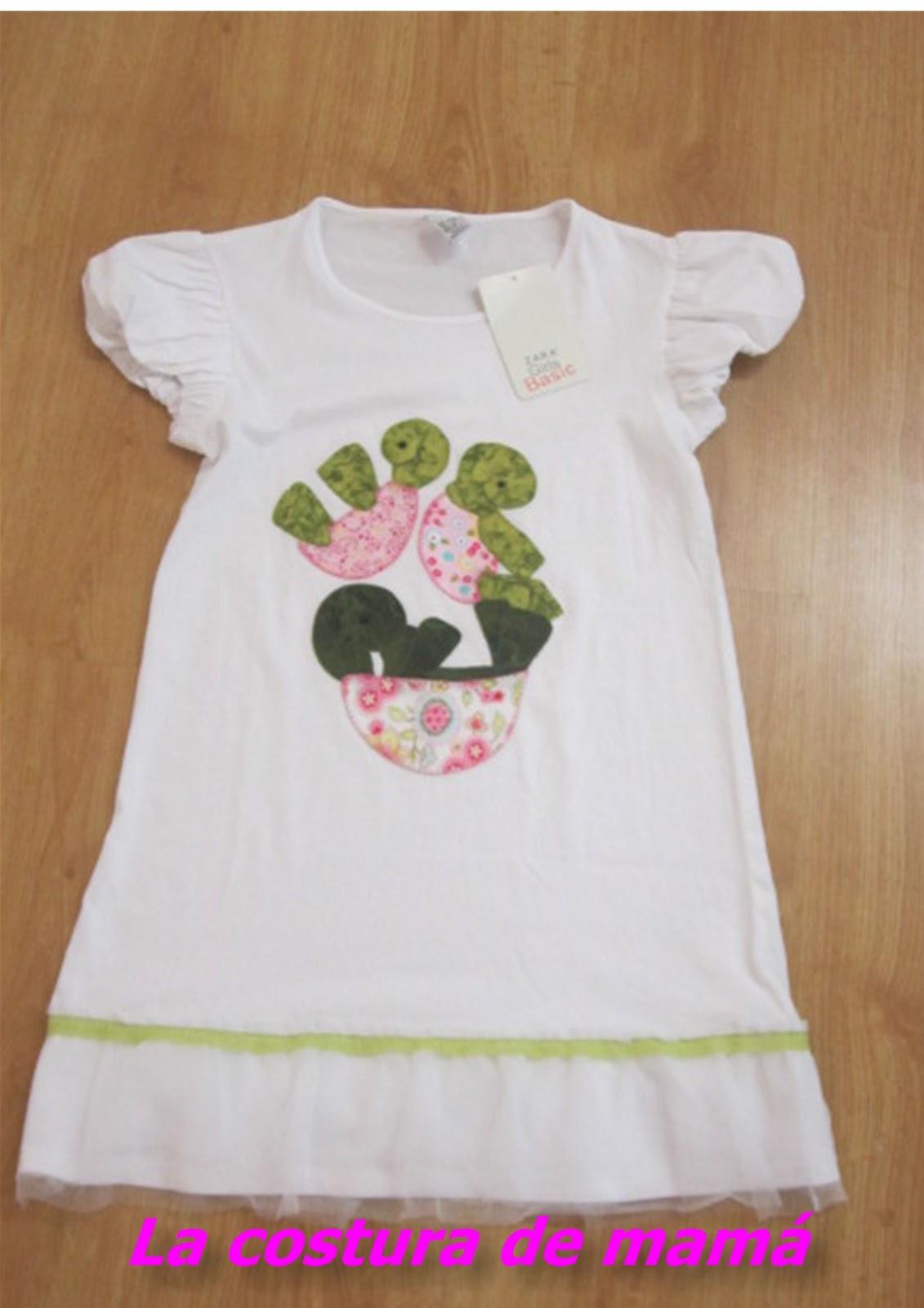 La costura de mama: Vestido con tortugas para Waldeska