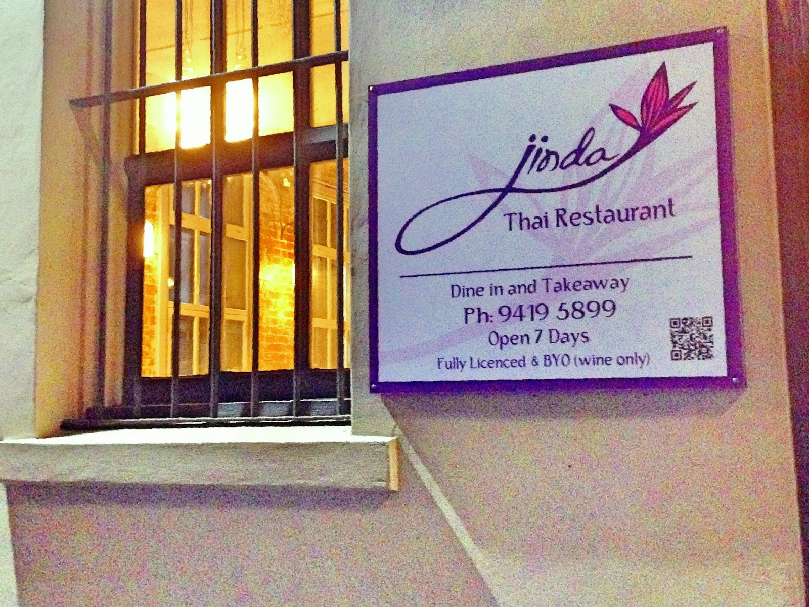 Happily Jinda Thai (1-7 Fergus St Abbotsford) is genuine great-quality Thai food (only) at quite reasonable prices. It was opened in July 2013 by the ... & Jinda Thai Restaurant